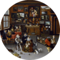 BRUEGHEL - Archidukes Albert and Isabela visit a collectors cabinet - 1621-1623 - detail.png